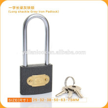 Excellent Quality Long Shackle Grey Iron Padlock