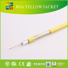 Revestimento de PVC impermeável ao ar livre Jelly Filled Coaxial Cable RG6