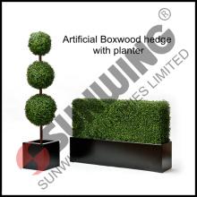 Искусственная изгородь boxwood с плантатора