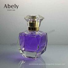 Botella de perfume de cristal de 50 ml con cristal de lujo