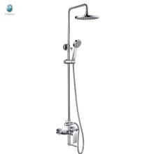 KR-05 produit en laiton fixé au mur chromé surface arroseurs de douche ensemble, cartouche en céramique avec douche sprinklers de douche de tête ensemble