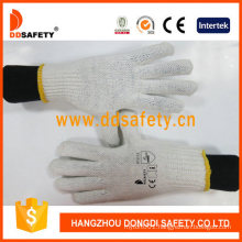 10g 2 Threads White Natural Cotton String Knit Knitted Knitting Hand Safety Work 20FT Container Gloves