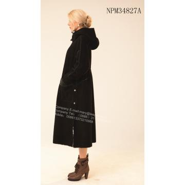 Lady Long Αυστραλία Merino Shearling Wind Coat