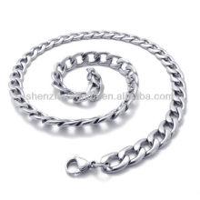 Venta al por mayor diverso tamaño Clásico para el collar de la cadena del acero inoxidable de los accesorios de la joyería de los hombres