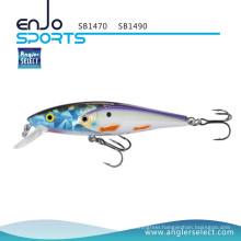 Angler Select New Stick Bait Fishing Tackle School Fish Lure with Vmc Treble Hooks (SB1470)
