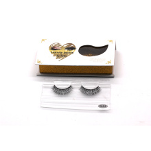 DL04T HITOMI clear band false eyelashes wholesale price 3d silk lashes invisible band private label 3d silk eyelashes