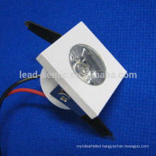 white shell mini 1w dimmable led downlight