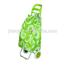 FOLDING UP SHOPPING STORAGE CART WITH WHEELS FOLDABLE SHOPPING TROLLEY BAG