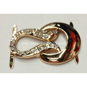 Alloy Rhinestone Fancy Shoe Buckle