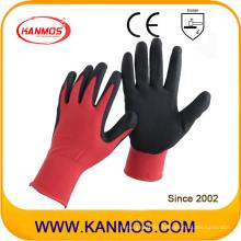 Nitrilo de seguridad industrial guantes de trabajo sumergidos con revestimiento (53302NL)