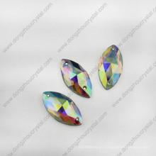 Navette Crystal Jewelry Glass Stone para mayorista