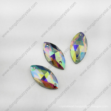 Navette Crystal Jewelry Glass Stone for Wholesale