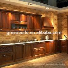 Conceptions d'armoires de cuisine en bois massif chêne blanc