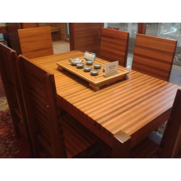 Casual Red Cedar Wood Table with Wood Chair