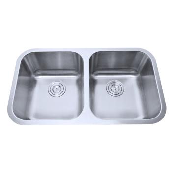 Cupc Utility Edelstahl 50/50 Doppel Schüssel Unterbau Waschbecken für Küche