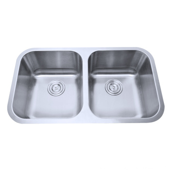 Cupc Utility Stainless Steel 50/50 Double Bowl Undermounted Sink for Kitchen