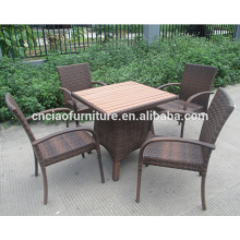 Relax outdoor rattan dining table and chair