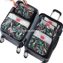 6 juegos de cubos de embalaje, organizadores de equipaje de viaje de compresión con bolsa de lavandería Zapatos Bolsa para equipaje de mano, maleta y mochila