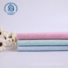 Tecido de malha de malha de malha de poliéster de algodão com nervuras para vestido