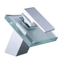 Design Wasserfall Glas Waschtisch Wasserhahn
