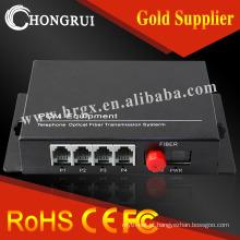 4 fxs / fxo porta gateway voip fxs de voz / fxo pots multiplexer de fibra pcm multiplexer
