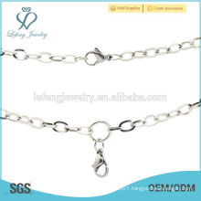 Men stainless steel silver cain necklace,famous silver jewelry necklace brand