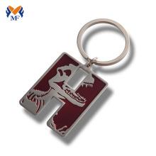 Metal custom enamel keychain design for engraving