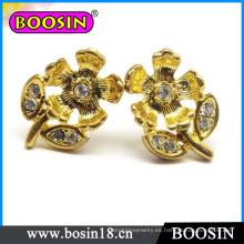 Pendiente de flor hecha a mano / Pendiente de flor de oro / Pendiente de cristal