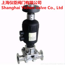 Pneumatic Sanitary Diaphragm Valve with Manual-Operated