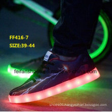 New Design Men Fashion LED Light Shoes Sport Shoes (FF416-7)