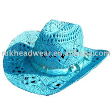 Colored paper straw cowboy hat