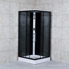 2021 Square Steam Shower Room with Grey Glass and Shower Panel