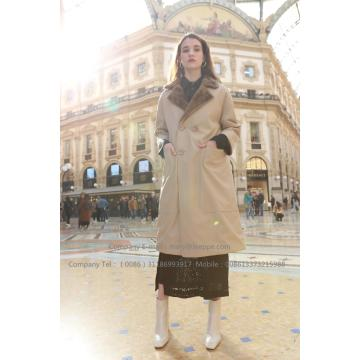 Kvinnor Reversible Parka Mink Fur Coat