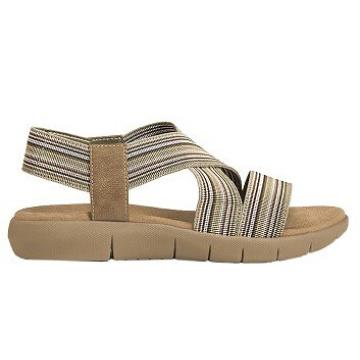 Mantenga sandalias deportivas activas de cuero con punta abierta