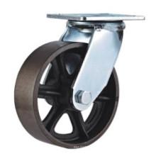 H11 Heavy Duty Type Swivel Type Double Ball Bearing V Mode Cast Iron Caster Wheel