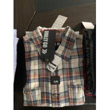 Экологичные мужские рубашки, окрашенные в пряжу