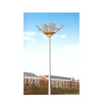 Poteau de mât de 30m de haut avec système de levage pour terrain de jeu