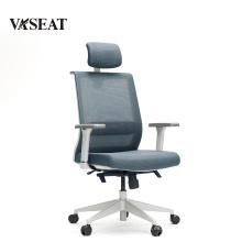 Silla giratoria de la silla de la tarea de la oficina de la parte posterior del cuero de la alta calidad del diseño simple de la buena calidad para la sala de conferencias