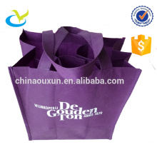 Wholesale reusable handmade non woven six bottle eco-friendly 6 pack wine bag bulk with dividers