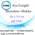 Shenzhen Port Sea Freight Shipping ke Mokha