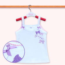 Algodão de alta qualidade Kids Sleeveless T Shirt Baby Girls Tank Top