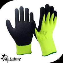 SRSAFETY 13G Knitted nylon liner nitrile coated green work glove,china supplier nylon yarn