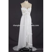 Las correas de espagueti del precio al por mayor visten los patrones ocasionales del vestido de boda de la playa de la gasa más el vestido de partido del tamaño