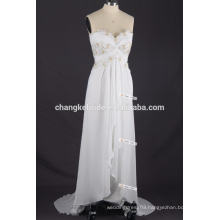 Wholesale Price Spaghetti Straps Casual Chiffon beach wedding dress Patterns plus size party dress
