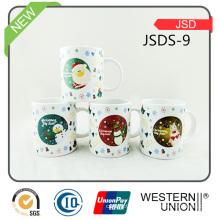 Taza de cerámica promocional del regalo de la Navidad con la etiqueta