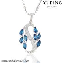 32716 colgante de cadena de joyería de imitación rodio cubic zircon de moda elegante