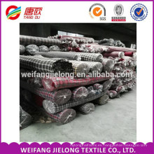 Tela de franela teñida hilado 100% de algodón para la tela Tela de franela tejida teñida hilado de algodón 100%