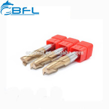 Cortadores redondos do moinho de extremidade do passador do carboneto contínuo da elevada precisão para não-ferroso