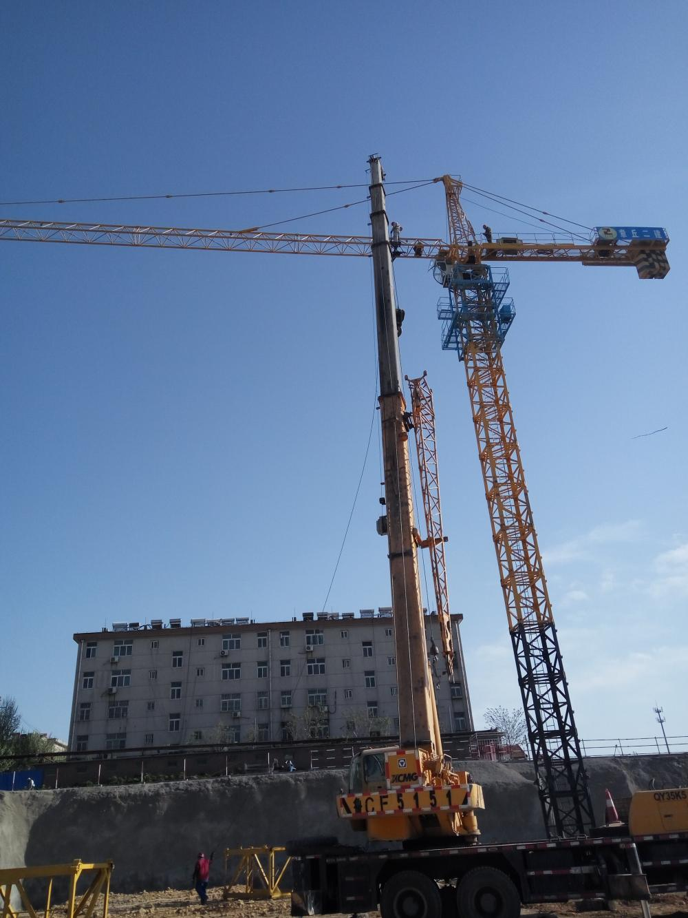 Tower Crane Price Qtp250 7020 Jib Length 70m 10t 12t