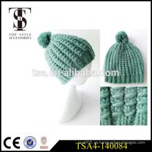 Chaquetas vendedoras calientes del sombrero del invierno de la gorrita tejida de la gorrita tejida del invierno de las mujeres